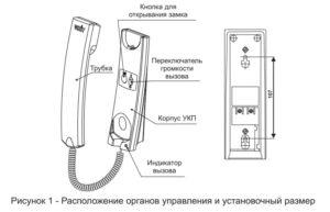 УКП-12М. Расположение кнопок и переключателя